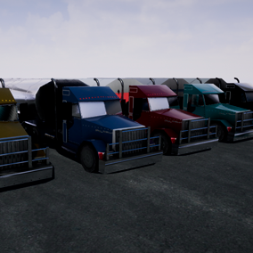 Amazing American low poly truck