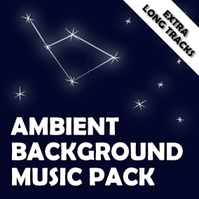 Ambient background music pack with 15 extra long tracks