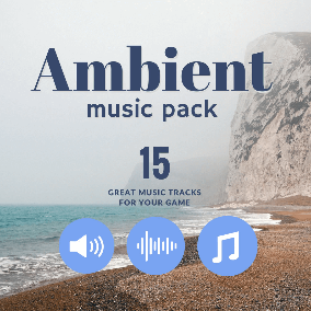 Ambient music pack with 15 music tracks ideal for ALL game genres. Use tracks for intro, cut scenes, level-play scenes. Slow ambient tempo ensures to your game players great joy during play.