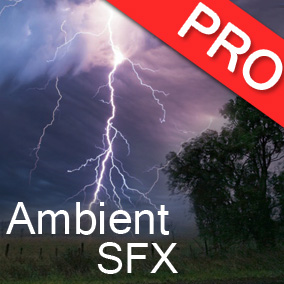 The Ambient and Environment sound effects pack features 23 high quality atmospheric sounds. Wind, rain, thunder, river, loops
