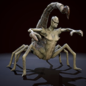 Animated monster. Great for fantasy games. Rigged Low-poly game ready model