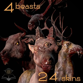 Game-Ready Ancient Beast Models