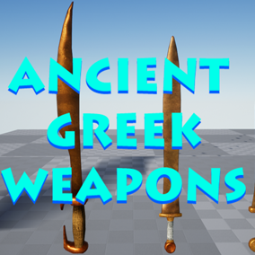Low-poly Ancient Greek inspired melee weapons perfect for project prototypes or saving time on asset design