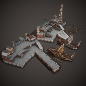 Ancient Seaport and Ship Pack