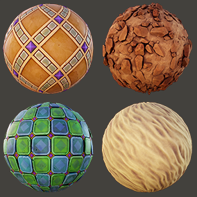 8 PBR stylized tomb materials