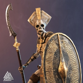 Modular ancient undead guard for your project.
