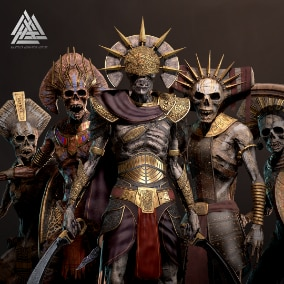 A collection of modular Ancient Undead.