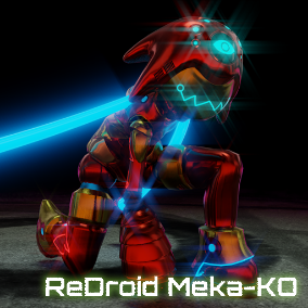 "A Red Mechanical Android Girl named ""ReDroid Meka-Ko""."
