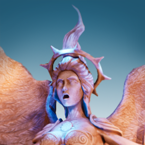 Angel Portal Fantasy Low Poly with basic FX and Morph via actor Blueprint