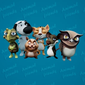6 Cartoon Animal Charactes