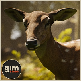 Animated female Chital with gFur support.