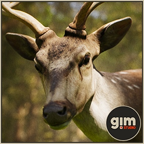 Animated male Chital with gFur support.