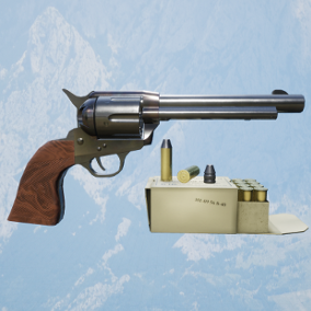 .45 Caliber SAA Revolver with sounds, bullets, and ammunition box. The pack comes with animated FPS character and animated revolver.  PBR textures up to 4K.