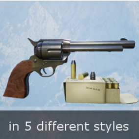 High Quality .45 Caliber SAA Revolver with sounds and VFX, bullets, and ammunition box. The pack comes with animated FPS character and animated revolver.  PBR textures up to 4K.