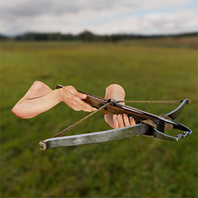 Arbalest Crossbow with 4K textures, 3 LODs, & free fully animated / rigged arms. Save 25%!