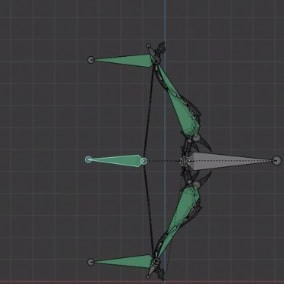 Animated Bow with Arrow and Quiver