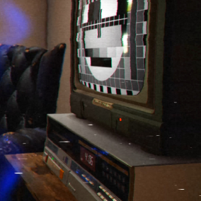 Animated CRT TV and VCR effects that can be used as material and post process effects.