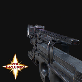 AAA quality Pro90 SMG weapon! Features VFX, 4K textures, 3 LODs, & fully animated / rigged arms.
