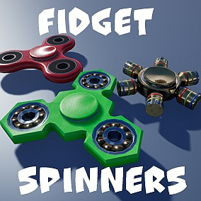 Colorful and animated fidget spinners