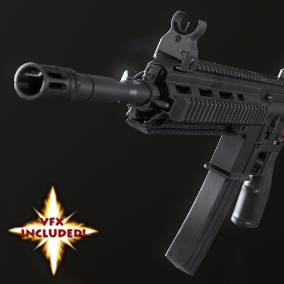 AAA quality HK416D with VFX, 4K PBR textures, 3 LODs, and fully rigged / animated arms. 28 assets in all!