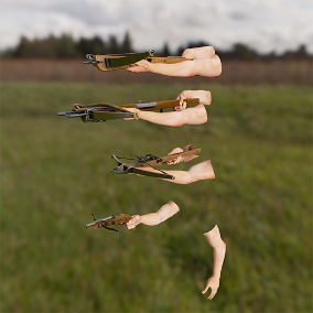 AAA quality crossbows with 4K textures, 3 LODs, & fully animated / rigged arms. 80 assets in all!