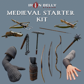 Animated Medieval Starter Pack including 11 weapons and 4 FP Arms with 4k textures and LODs.