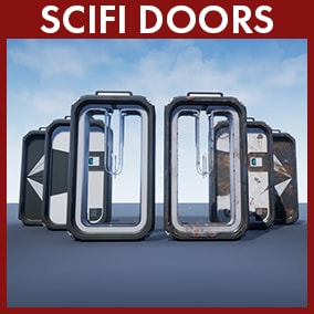 This package contains five doors/gates including detailed animations and sounds for use in a futuristic environment. Each model also comes with an alternative worn out look.