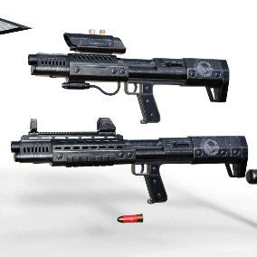 Animated Ultra High quality Tactical Shotgun Set with VFX and SFX