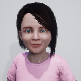 Annabel is a little girl with facial morphs