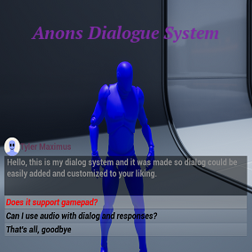 Blueprint component dialogue system that supports using both Blueprint or data tables with camera angles