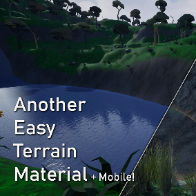 Another Easy Terrain Material that Textures the terrain and can add vegetation by itself. It's almost like magic.