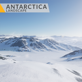 This content includes highly detailed 16 km2 (4x4 km) Antarctica landscape.
