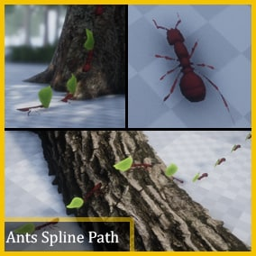 You can make your own ants path with or without leaf