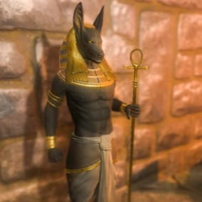 Anubis model with animations and mesh morphing