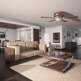 Virtual apartment interior
