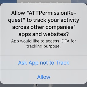 This plugin presents the app-tracking authorization request dialog.
