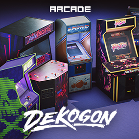 A Collection of Custom Arcade Machines and Props!