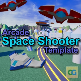 The Arcade Space Shooter Template is a feature-complete template that allows you to create an on-rails space shooter. Everything you need to get started is included- Track and All-Range Modes, enemy AI, menus, save system, and more!