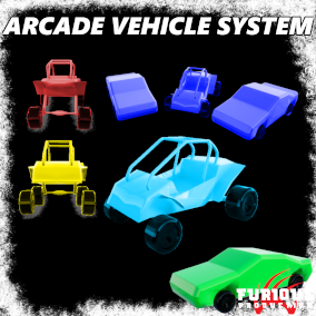 Game-ready, networked Arcade Vehicle System, that provides arcade-style driving for the vehicles.