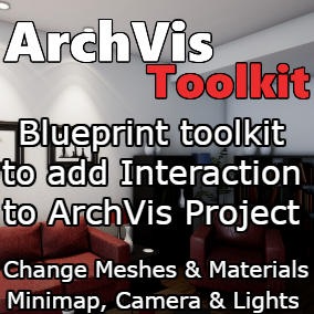 Add a complete list of interaction features to Architectural Visualization Project easily and in minutes.