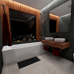 This Elegant Modern Bathroom contains numerous bathroom assets for your Architectural Visualizations