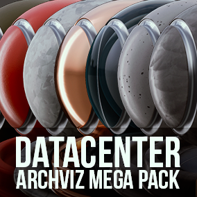 This pack includes 55 ArchViz/game-ready Materials themed around real-world Data Centers.