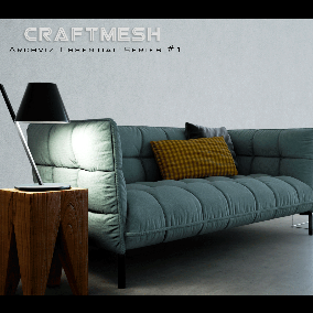 A small collection of high quality and optimized furniture and flexible material assets for Archviz.