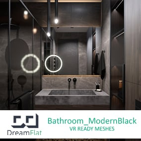 Pack of necessary furniture and decor for a Bathroom. VR-optimized, game-ready props with high quality textures and materials.
