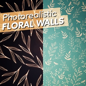 Layered Photorealistic Floral Material Set (fully customizable)
