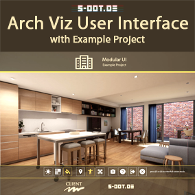 A flexible user interface made for Architectural Visualization