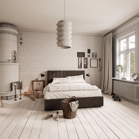 Hi-poly archviz scene of Scandinavian home interiors.