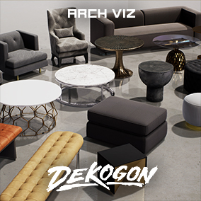 A collection of furniture assets that can be used for arch viz or games!