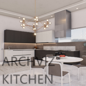 A clean, modern and contemporary kitchen within the city, featuring a large array of assets!
