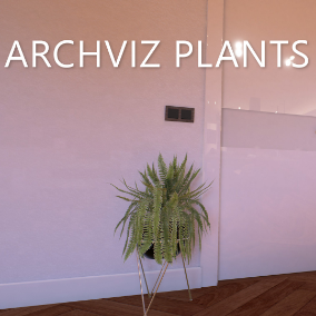 This set of 10 photo-realistic plants will boost the visual attraction of your renders!
